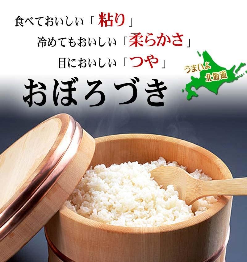 新米 北海道産米 おぼろづき