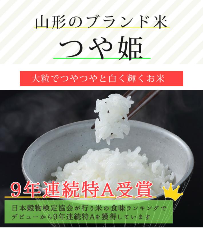 令和1年 山形県産 特別栽培米つや姫